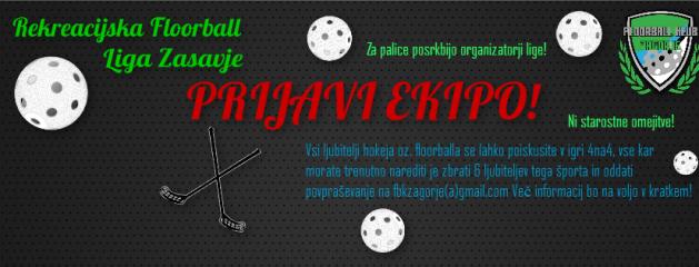 Pridruži se Rekreacijski floorball ligi Zasavje!